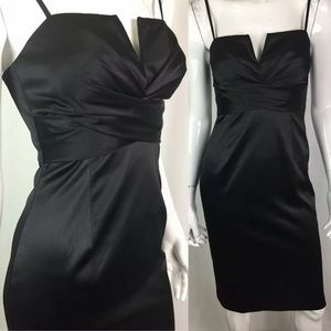 White House Black Market Satin Sheath Dress
